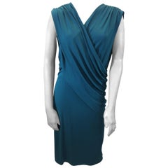 Narciso Rodriguez Teal Dress