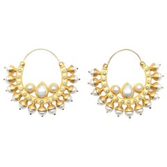 Amrapali faux-pearl hoop earrings