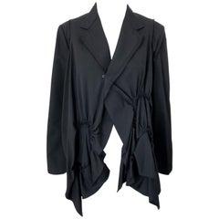 Vintage Comme des Garcons 1990s Black Avant Garde Trapeze 90s Swing Jacket
