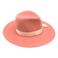 6fcce34af91 Memoria Hats Rabbit Fur Pink Wide Brimmed Hat S