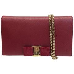 6a4f62ebeae55 Salvatore Ferragamo Red Wallet on a Chain