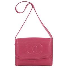 Chanel Vintage Timeless CC Messenger Bag Caviar Medium