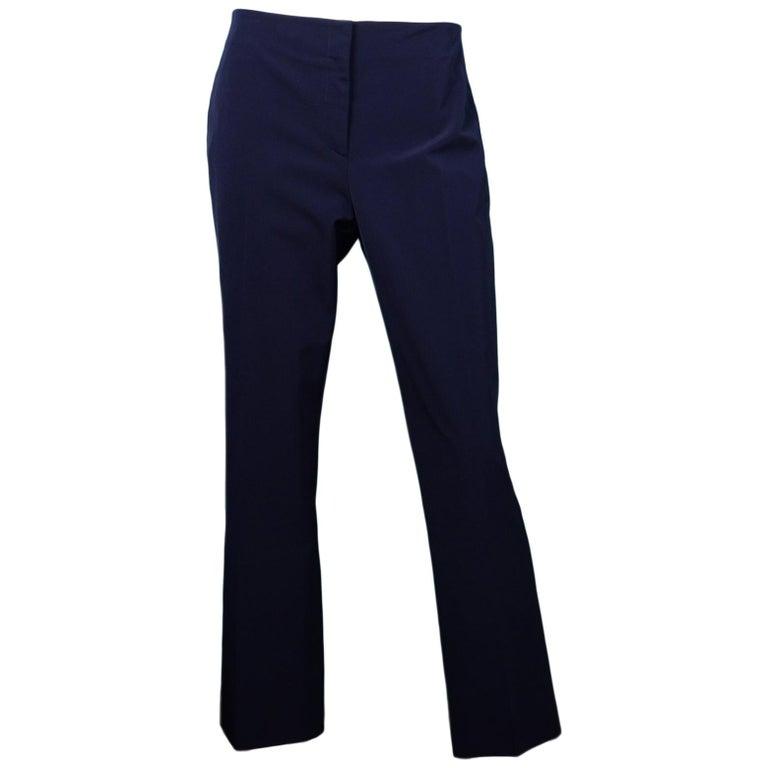 Prada Navy Techno Stretch Ankle Pants Sz IT48/US12