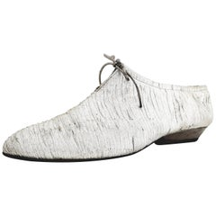 Stefania Buccheri Silver Laced Shoes - Size 39 (EU)