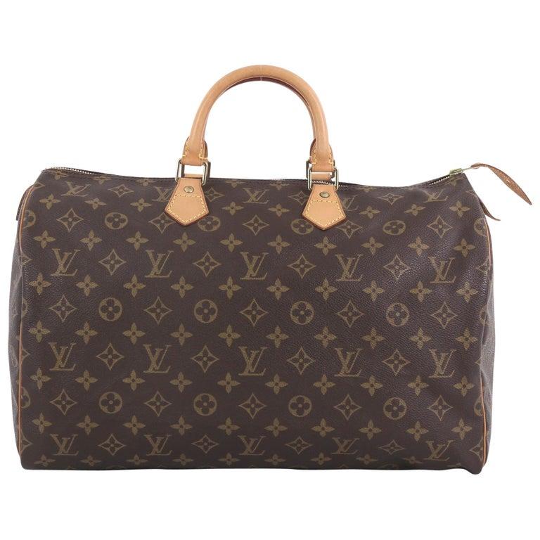 583c0ff80f3 Louis Vuitton Speedy Handbag Monogram Canvas 40 For Sale at 1stdibs