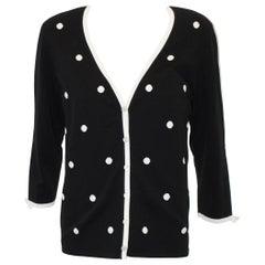 Escada Black & White Cardigan Style Jacket