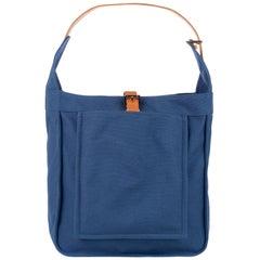 Hermes Marwari Bleu Canvas Shoulder Bag