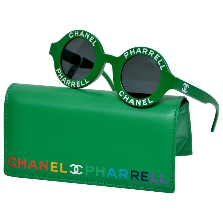 e6f9a7cad8 Chanel x Pharrell Capsule Collection Green Sunglasses NEW For Sale ...