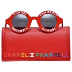 Chanel x Pharrell Capsule Collection Red Rouge  Sunglasses NEW