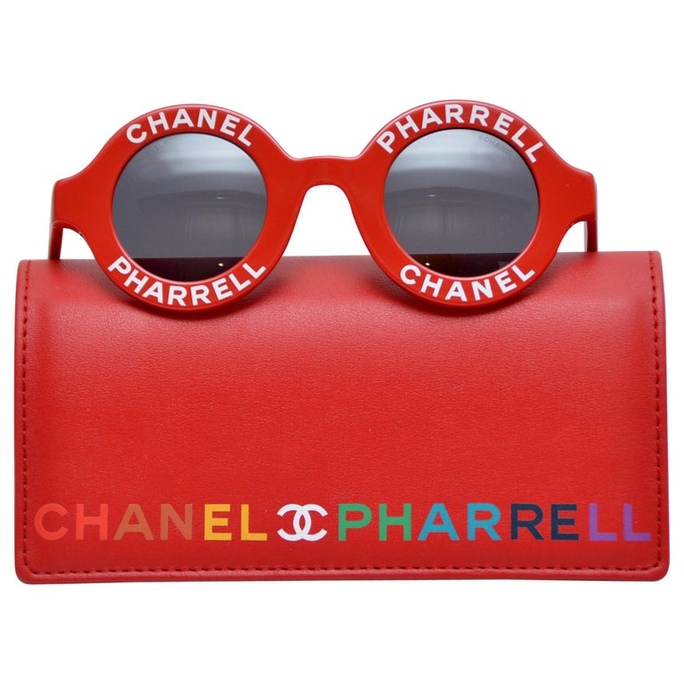 d4d0cf3221 Chanel x Pharrell Capsule Collection Red Rouge Sunglasses NEW For Sale
