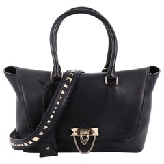 Valentino Demilune Flap Satchel Leather Small