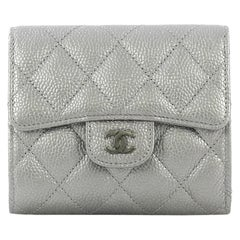 Chanel CC Compact Classic Flap Wallet Quilted Caviar
