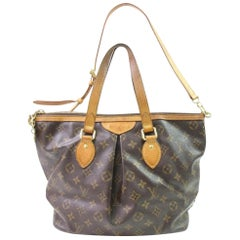 Louis Vuitton Palermo Monogram Pm 867007 Brown Coated Canvas Tote