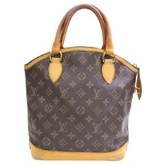 511da5b6f6d5 Louis Vuitton Lockit Monogram Vertical 866680 Brown Coated Canvas Satchel