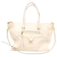 Louis Vuitton Lumineuse Empreinte 2way 866709 Ivory Leather Shoulder Bag