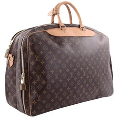 Louis Vuitton Alize Bandouliere 2 Poches 866494 Brown Coated Canvas Travel Bag