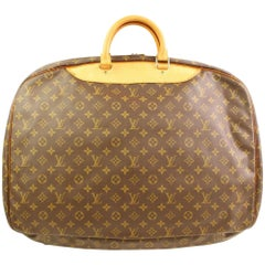 Louis Vuitton Alize Monogram 866377 Brown Coated Canvas Weekend/Travel Bag