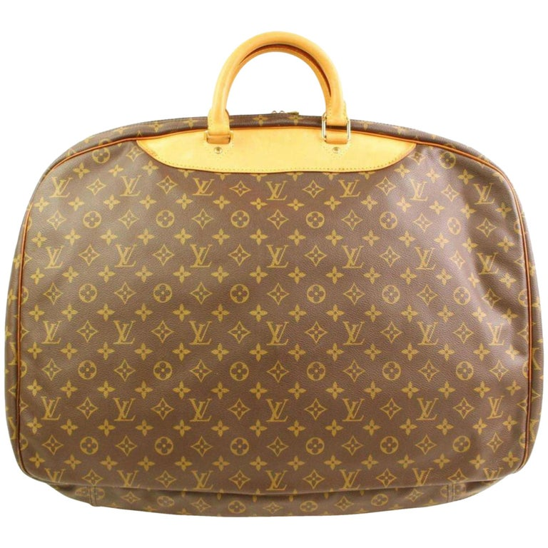 a1f2f6d3233a Louis Vuitton Alize Monogram 866377 Brown Coated Canvas Weekend Travel Bag  For Sale