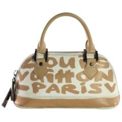 9a720d196d04 Louis Vuitton Alma Stephen Sprouse Graffiti 866394 Beige Leather Satchel