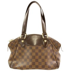 Louis Vuitton Verona Damier Ebene Pm 866452 Brown Coated Canvas Shoulder Bag
