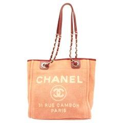 Chanel Deauville 866271 Pink Canvas Shoulder Bag