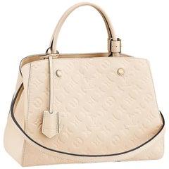 Louis Vuitton Empreinte Mm 2way 865979 White Patent Leather Shoulder Bag