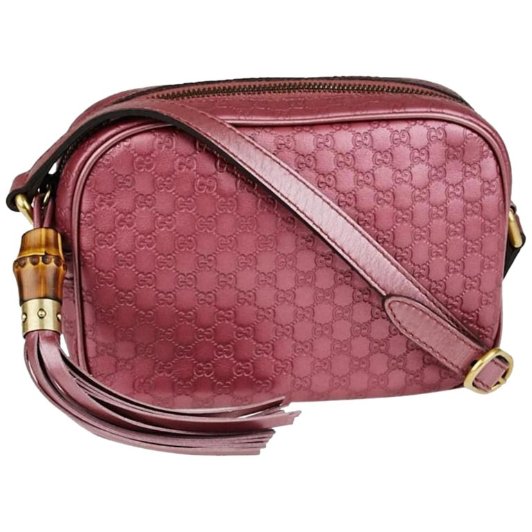 770743daca88 Gucci Soho Guccissima Sunshine Disco 866100 Rose (Pink) Leather Cross Body Bag  For Sale
