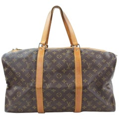 Louis Vuitton Sac Souple 45 867150 Brown Coated Canvas Weekend/Travel Bag