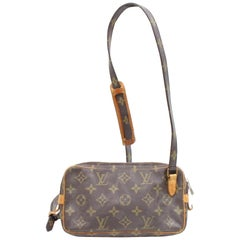 Louis Vuitton Pochette Marly Monogram 867071 Brown Coated Canvas Shoulder Bag