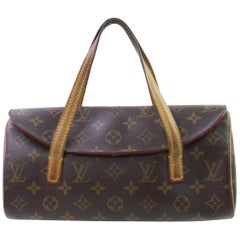 Louis Vuitton Sonatine Monogram 866773 Brown Coated Canvas Satchel