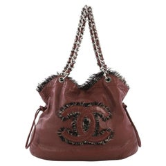 Chanel Funny Tweed Bon Bon Tote Lambskin Large