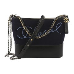 Chanel Gabrielle Hobo Embroidered Wool and Calfskin Medium