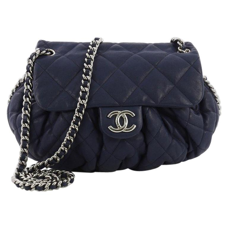 ff13871fc317cb Chanel Chain Around Flap Bag Quilted Leather Medium at 1stdibs