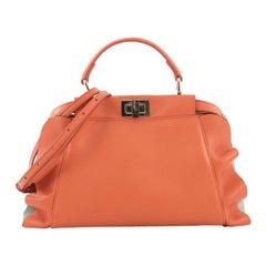 Fendi Peekaboo Wave Handbag Leather Mini