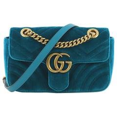 Gucci GG Marmont Flap Bag Matelasse Velvet Mini