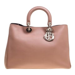 Dior Nude Leather Large Diorissimo Shopper Top Handle Bag