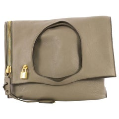 Tom Ford Alix Fold Over Bag Leather Large