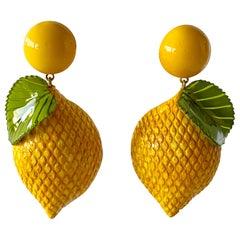 French Lemon Statement Earrings