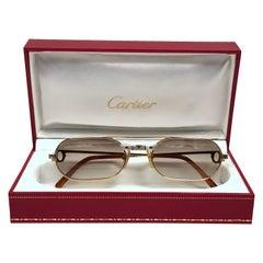 90f15c765215 New Vintage Cartier Must Santos Medium 53mm France Sunglasses