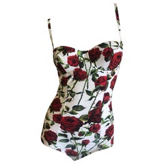 Dolce & Gabbana Floral One Piece Swimsuit NWT Size Small