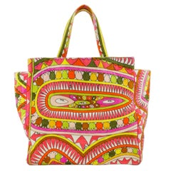 1980s Emilio Pucci Terrycloth Tote Bag & Matching Beach Towel