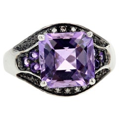Gemjunky Albuquerque Casual 10 Cts Amethyst & Diamond Day to Night Ring