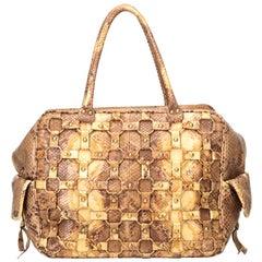 Dior Brown Python Leather Leather Python Handbag Italy