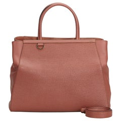 Fendi Pink  Leather 2 Jours Satchel Italy w/ Dust Bag
