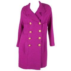 Chanel Boucle Coat - purple