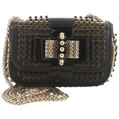 Christian Louboutin Sweet Charity Crossbody Bag Spiked Leather Mini