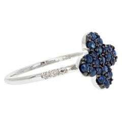 Elegant Little Flower Sapphire Ring