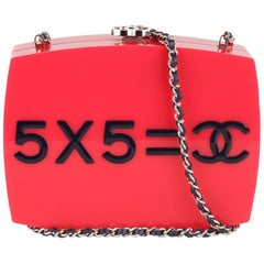 Chanel 2015 Je Ne Suis Pas En Solde Box Clutch with Chain Strap