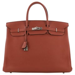 Hermes Birkin Handbag Cuivre Togo with Palladium Hardware 40