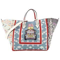 Christian Louboutin Caba Tote World Motif Embroidered Jacquard Large